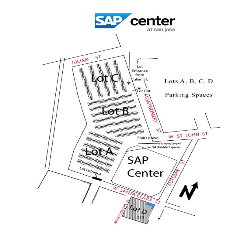 SAP Center Parking Map